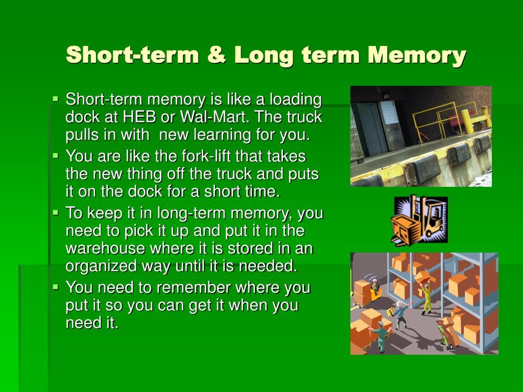 Short-term & Long term Memory