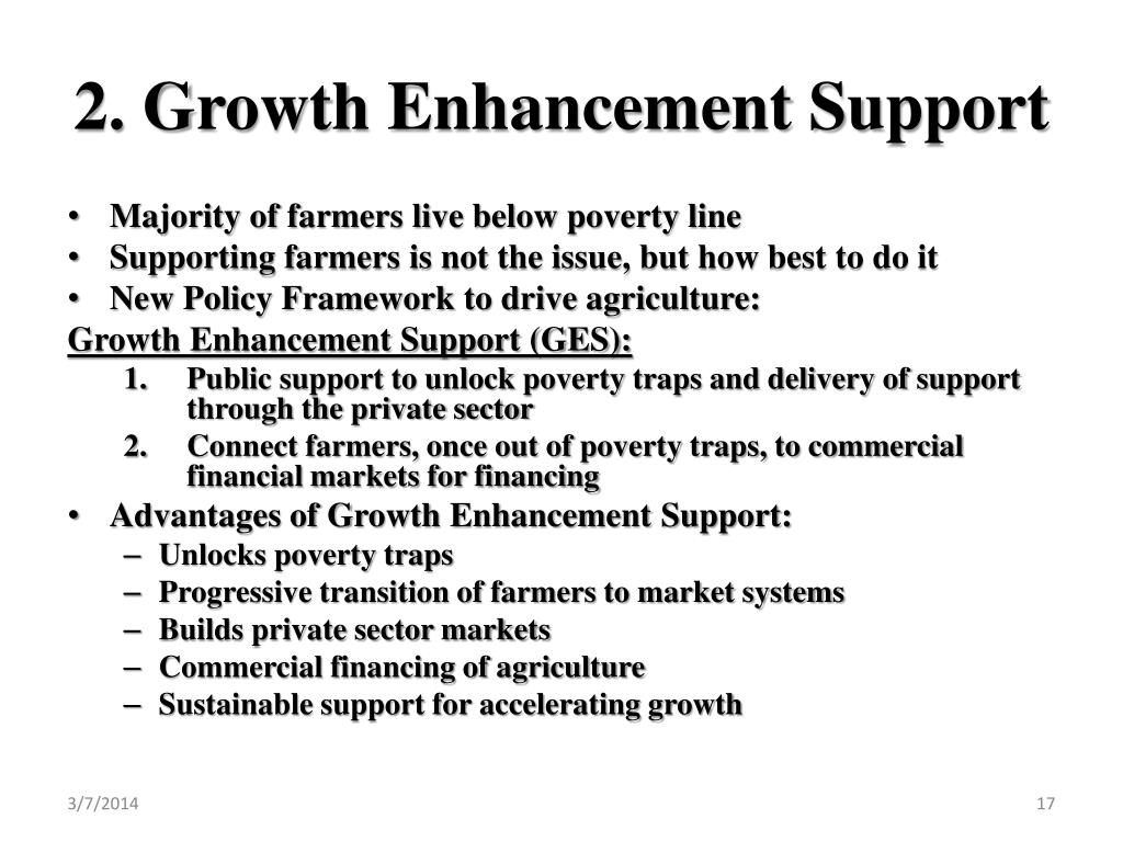 2. Growth Enhancement Support