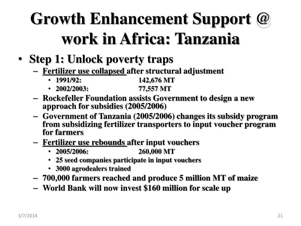 Growth Enhancement Support @ work in Africa: Tanzania