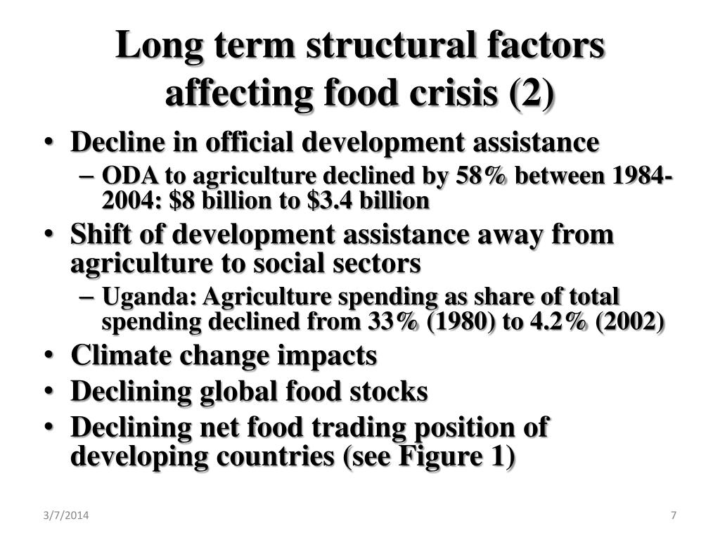 Long term structural factors affecting food crisis (2)