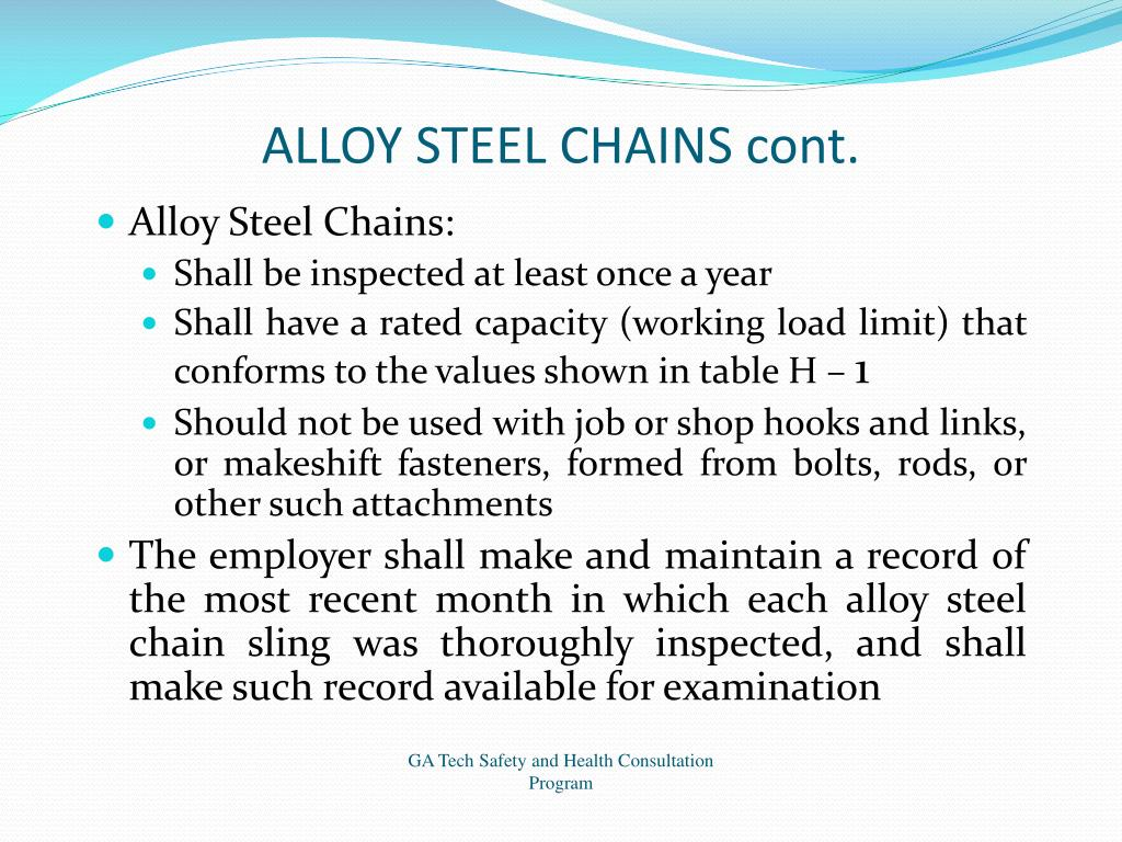 ALLOY STEEL CHAINS cont.