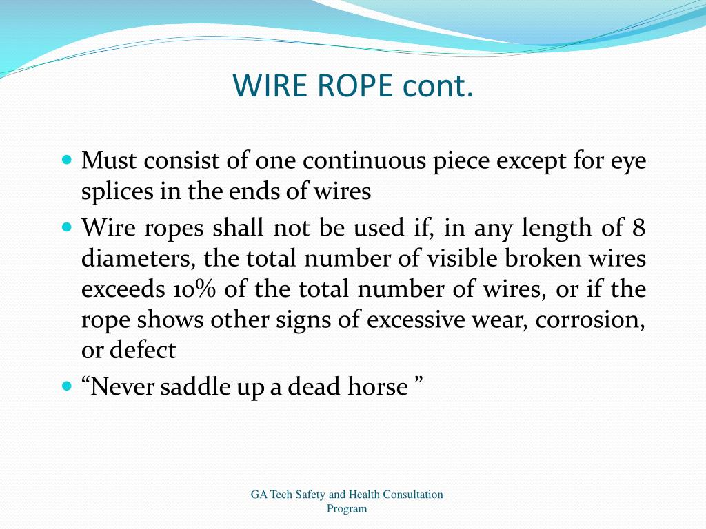 WIRE ROPE cont.