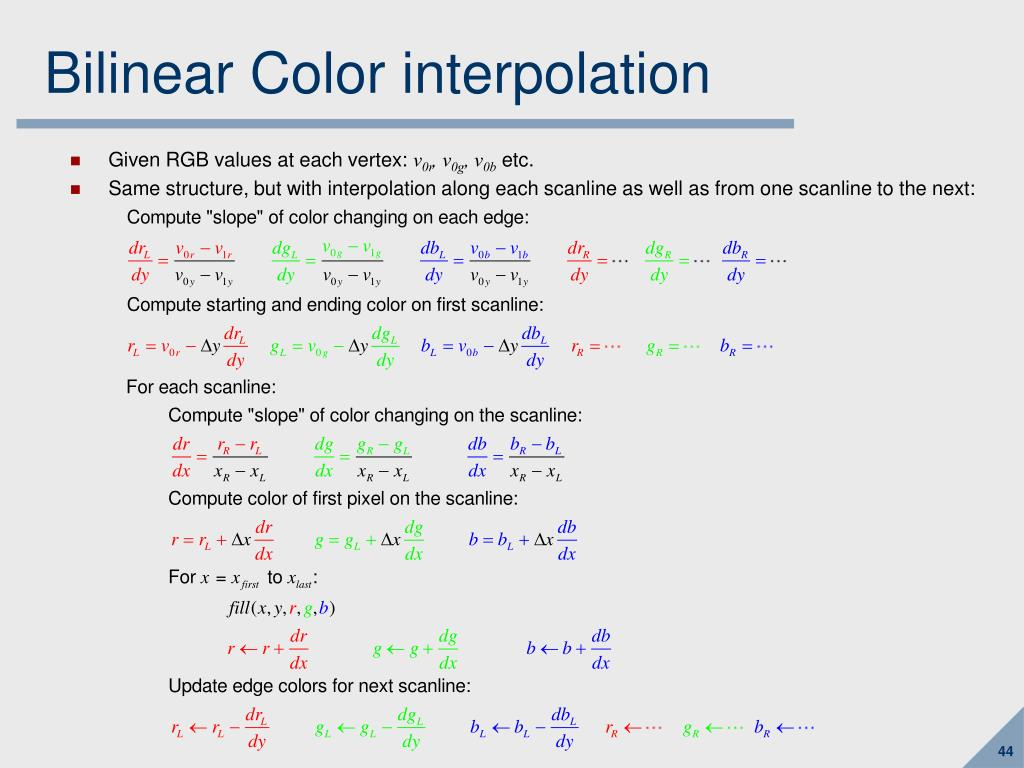 Bilinear Color interpolation