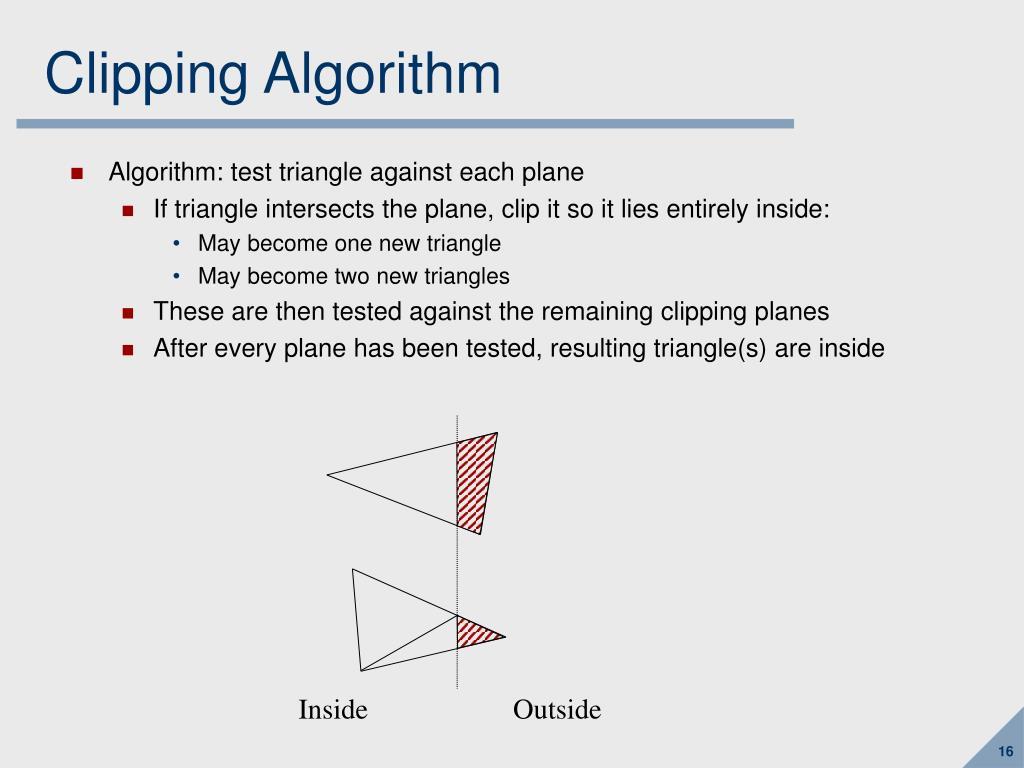 Clipping Algorithm