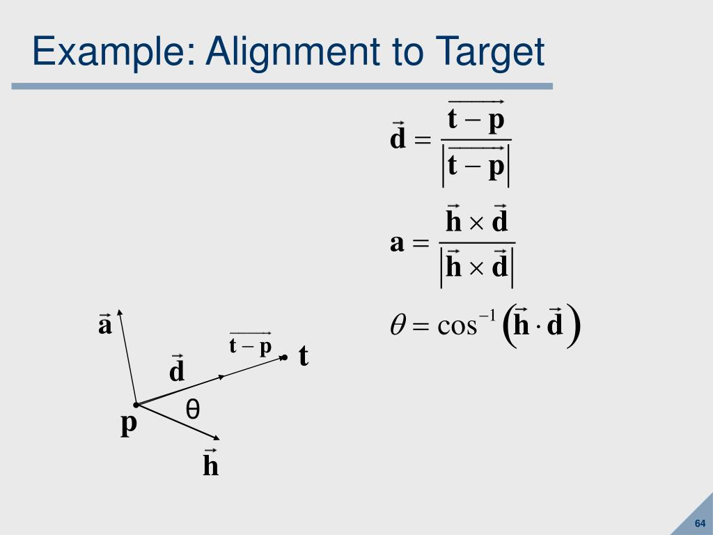 Example: Alignment to Target