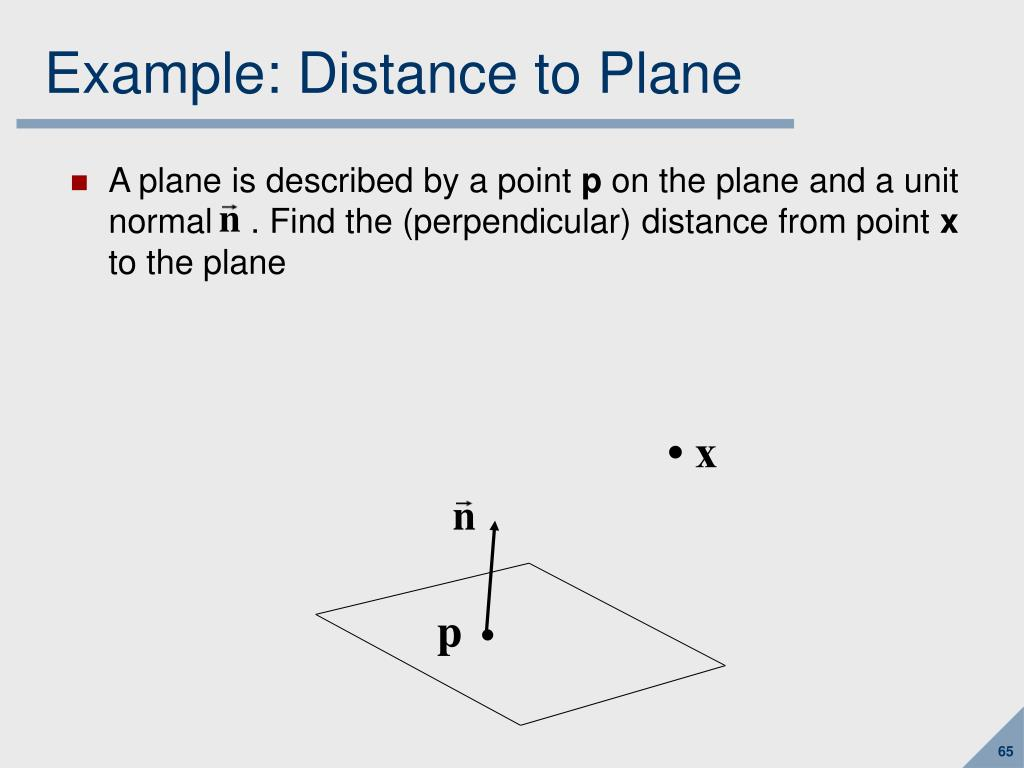 Example: Distance to Plane