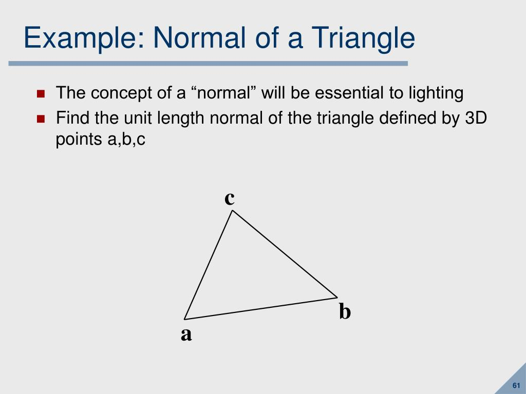 Example: Normal of a Triangle
