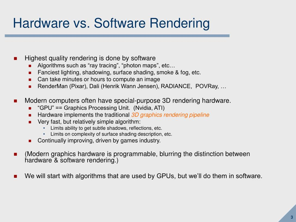 Hardware vs. Software Rendering