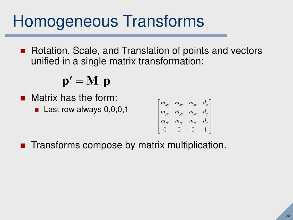 Homogeneous Transforms