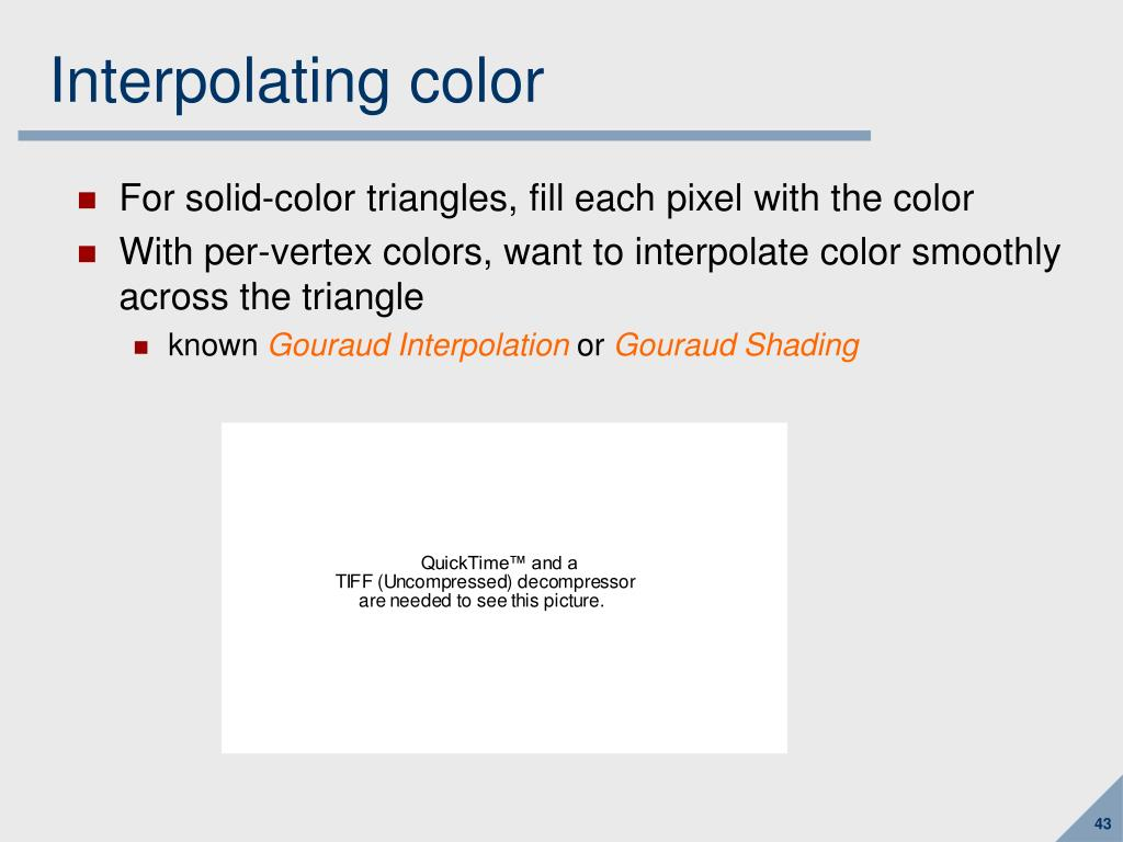 Interpolating color