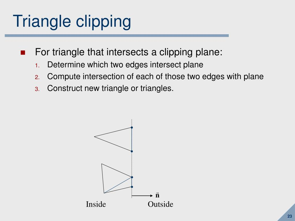 Triangle clipping