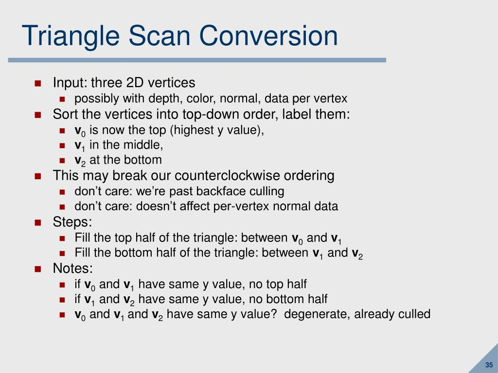 Triangle Scan Conversion