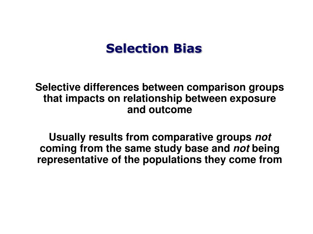 bias in epidemiological research Research design, clinical epidemiology, quality control, humans an observational study found that authors of randomized controlled trials frequently use concealment of randomization and blinding, despite the failure to report these methods.