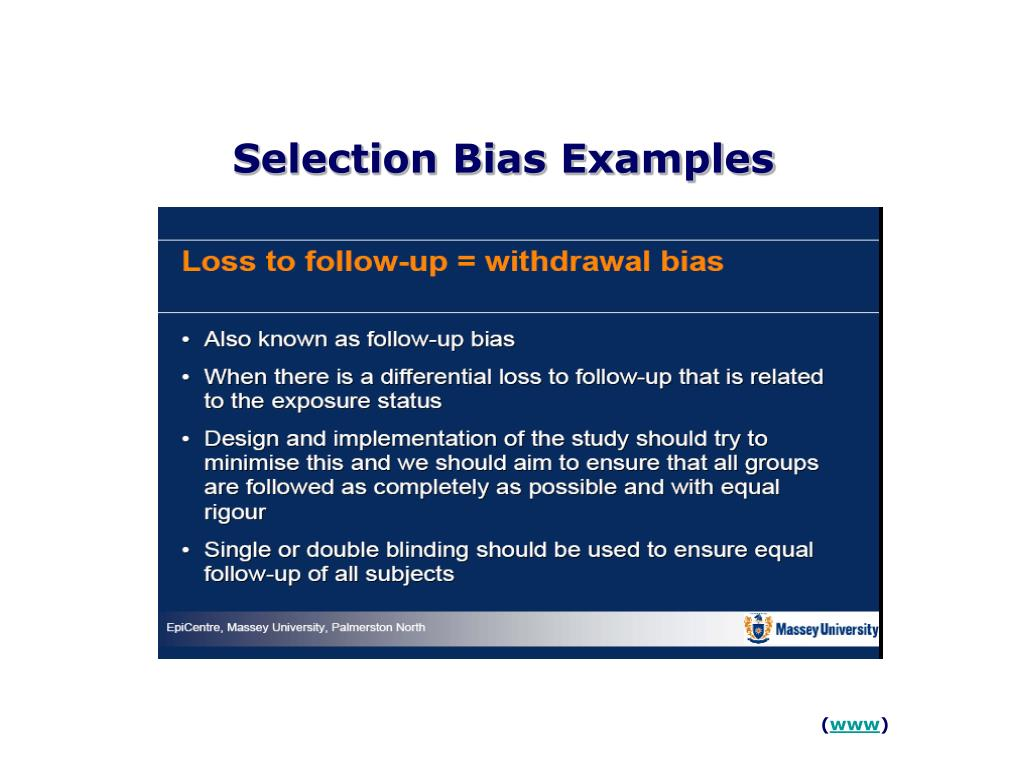 Selection Bias Examples