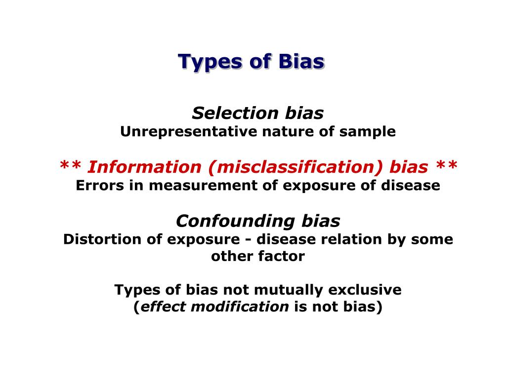 Types of Bias