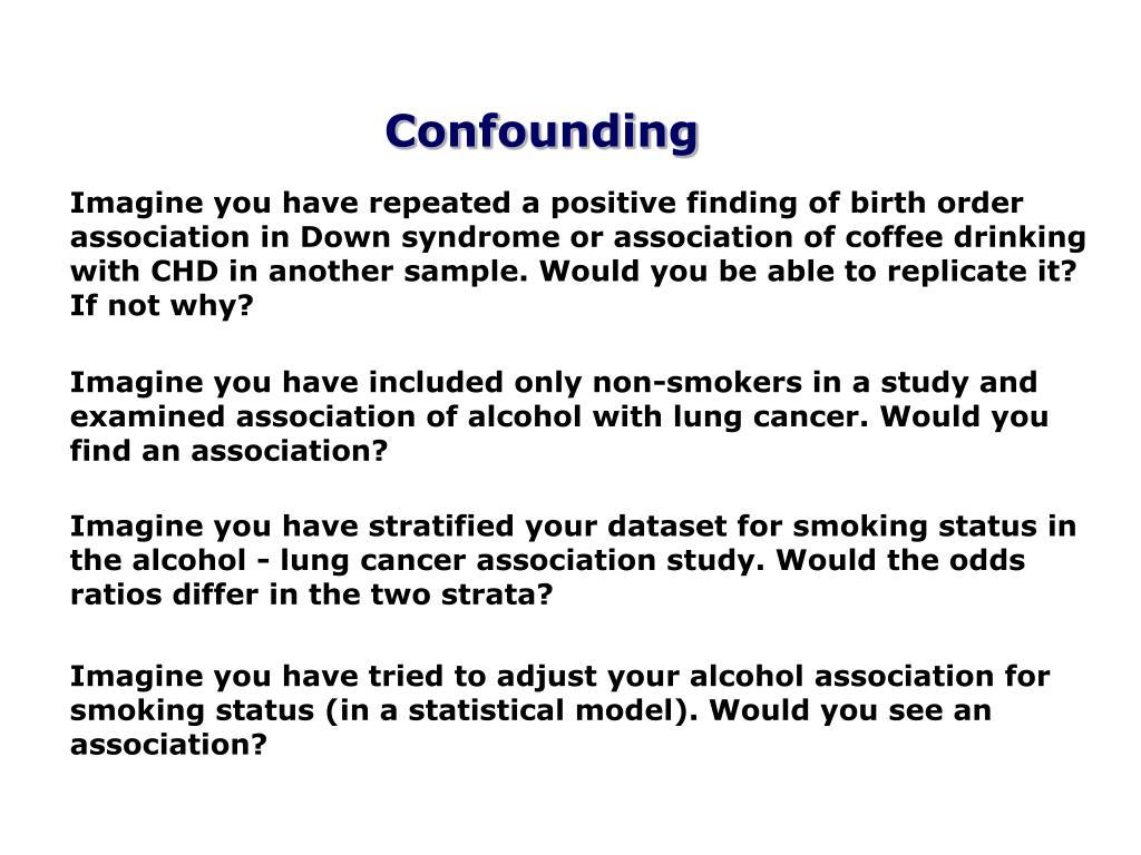 Confounding