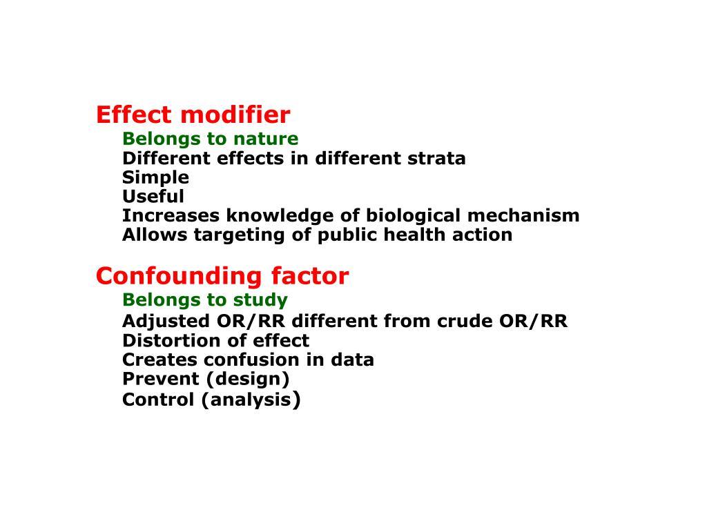 Effect modifier