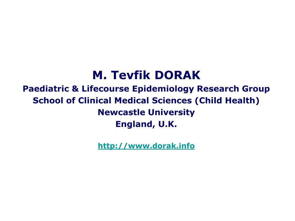 M. Tevfik DORAK