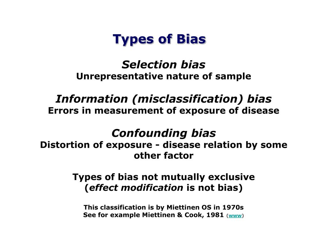 Types of Bias