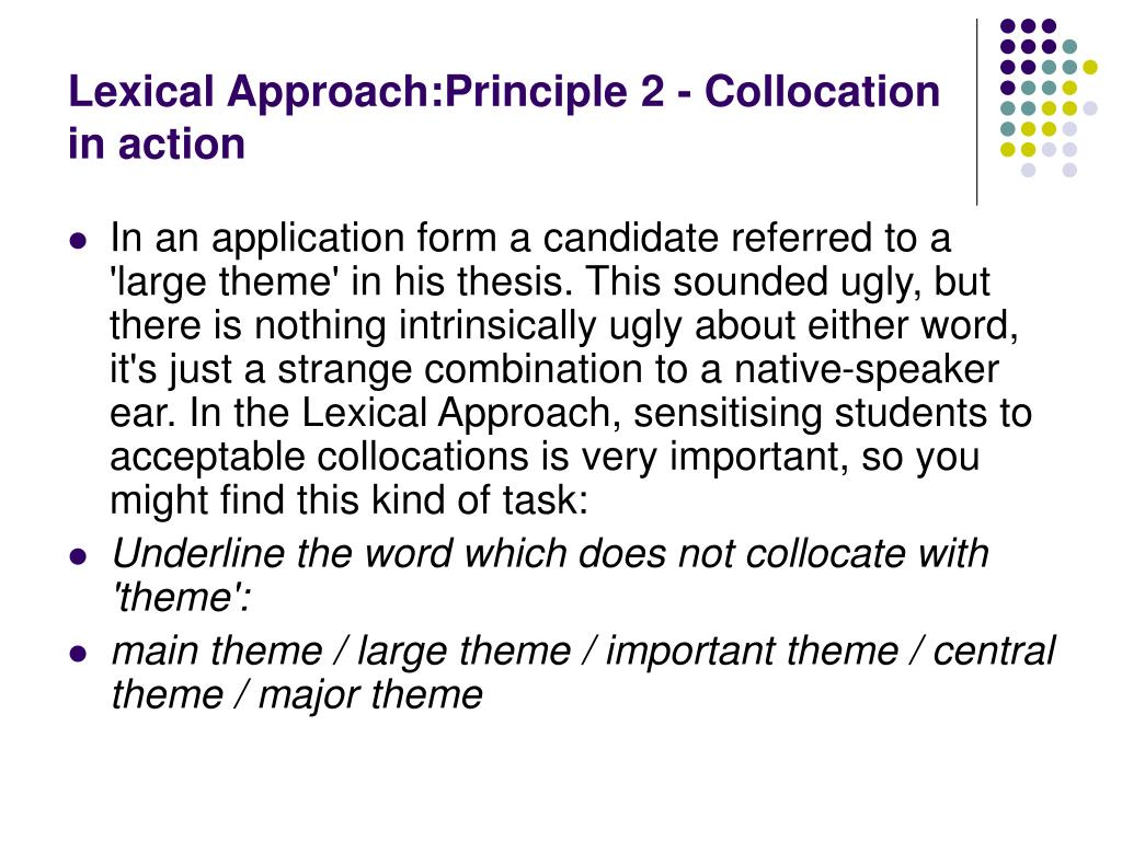 PPT - Lexical Approach PowerPoint Presentation - ID:327571
