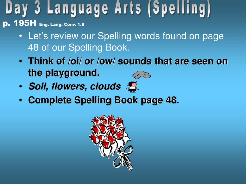 Day 3 Language Arts (Spelling)