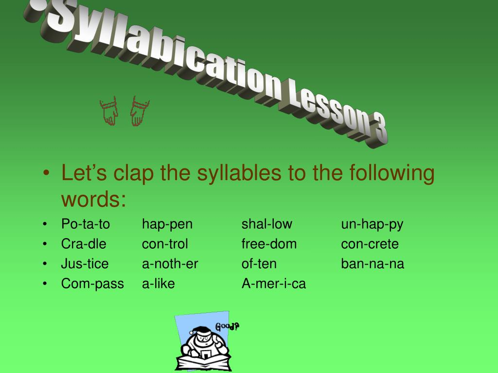 Syllabication Lesson 3