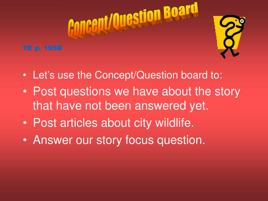 Concept/Question Board