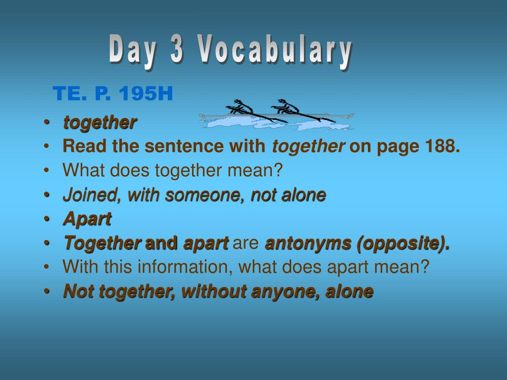 Day 3 Vocabulary