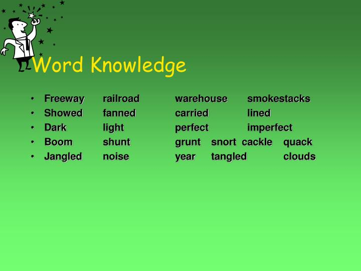 Word knowledge