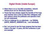 digital divide inside europe