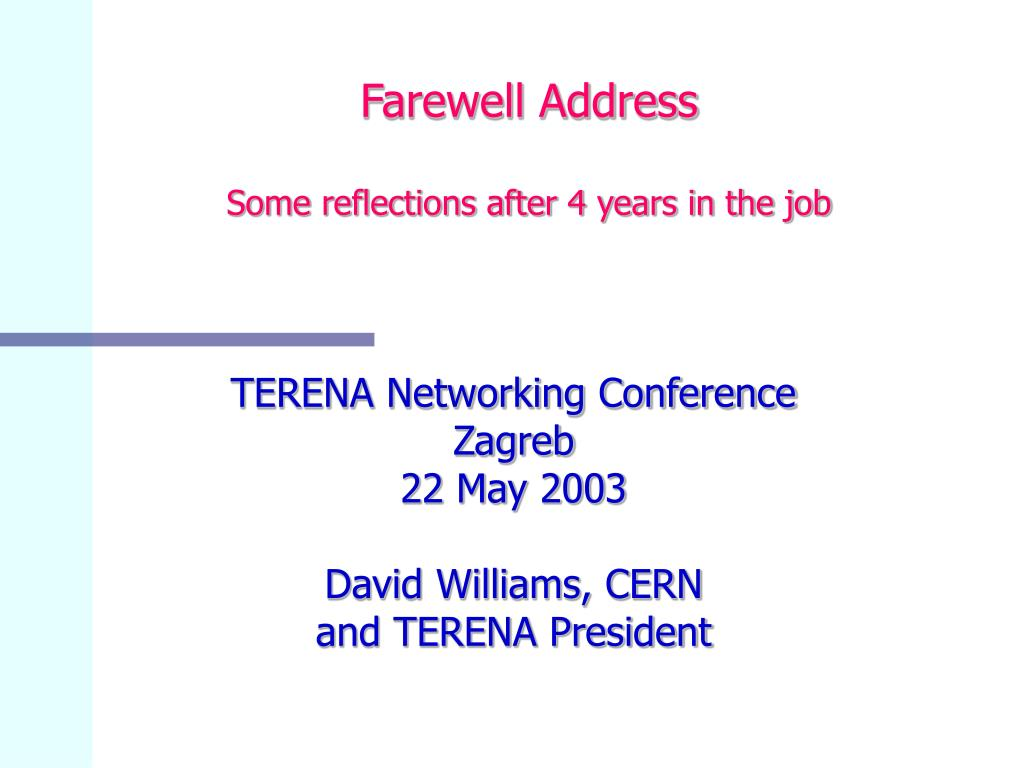 farewell address some reflections after 4 years in the job