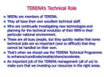 terena s technical role