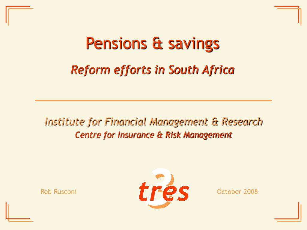 pensions savings