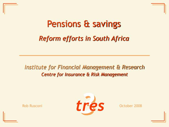 Pensions savings
