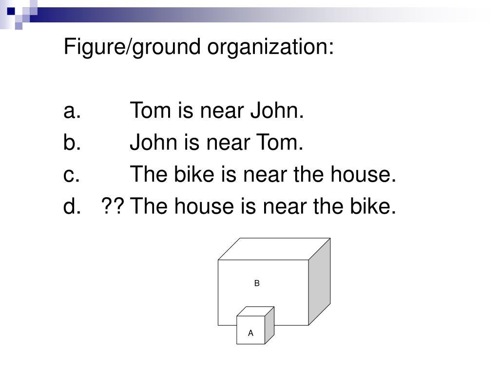 Figure/ground organization: