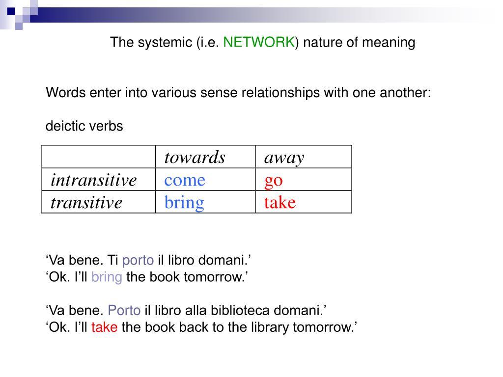 The systemic (i.e.