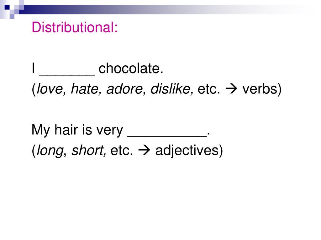 Distributional:
