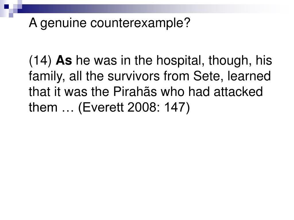A genuine counterexample?