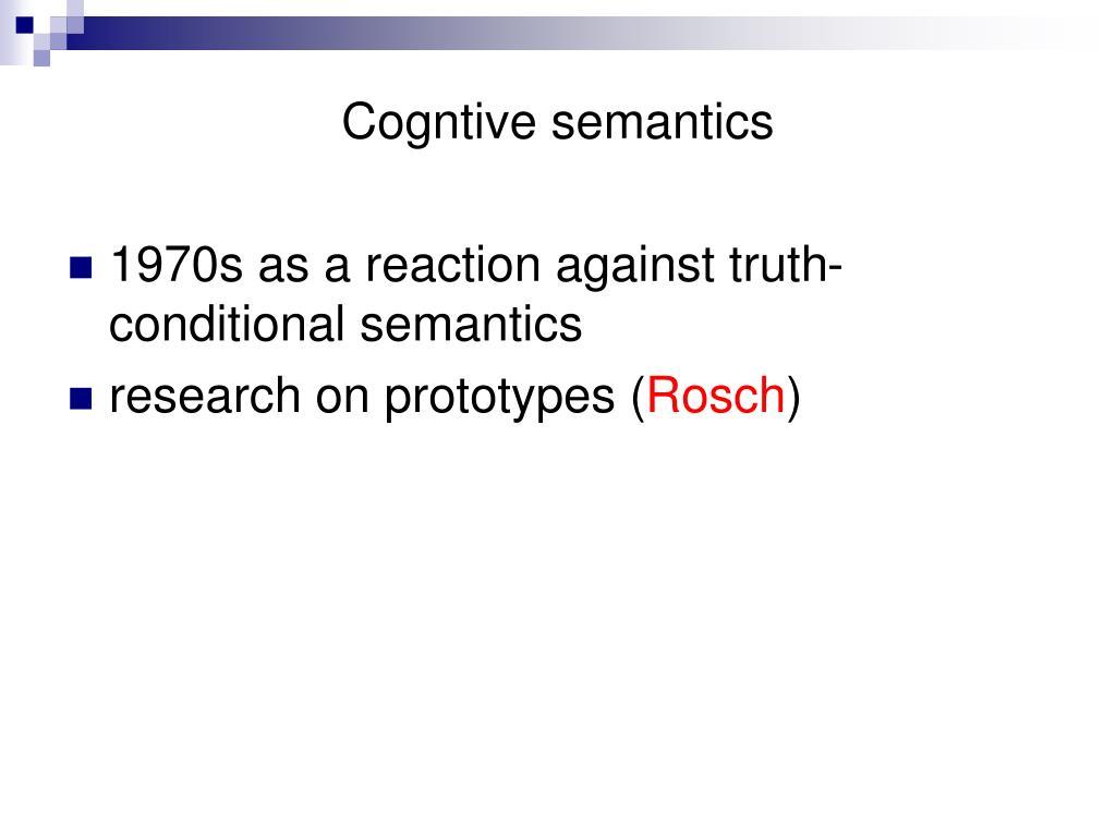 Cogntive semantics