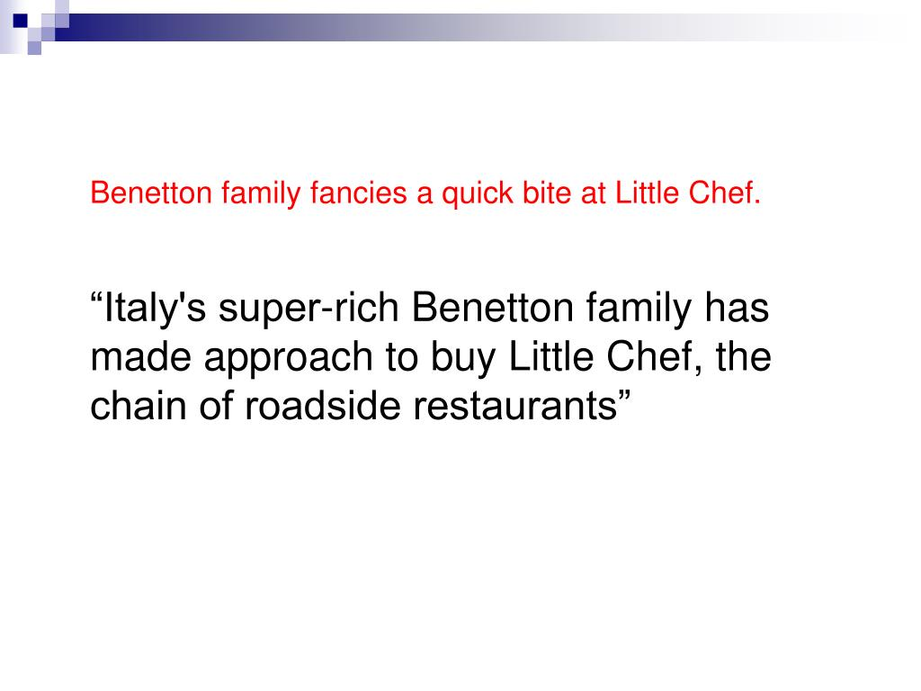 Benetton family fancies a quick bite at Little Chef.