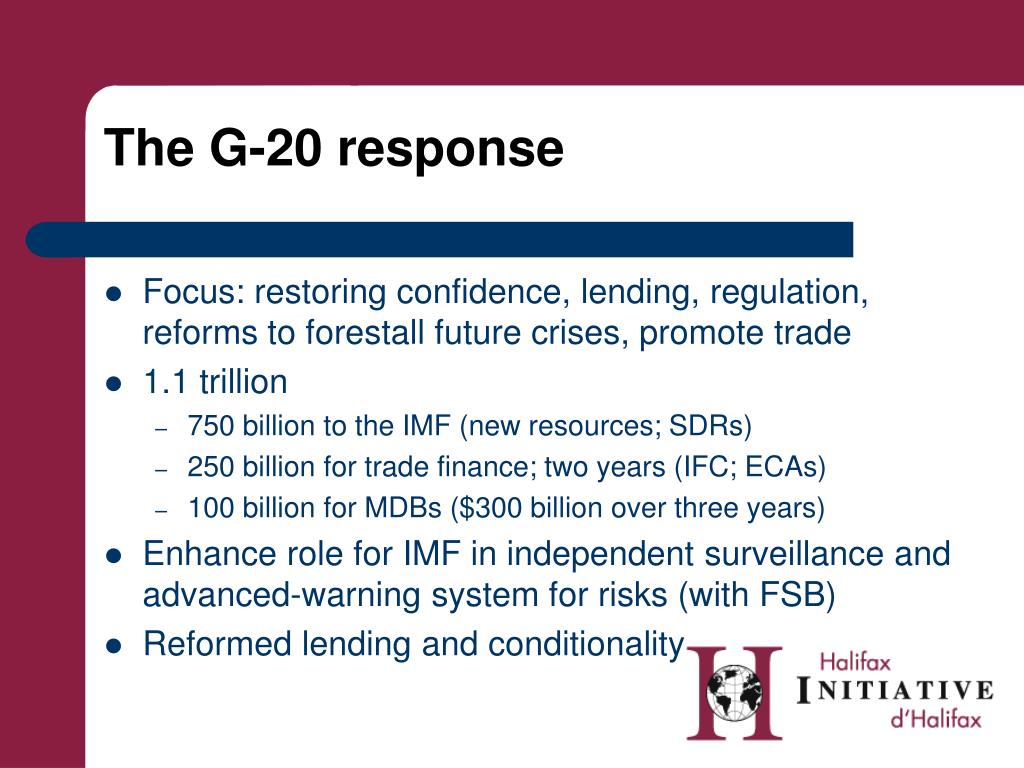 The G-20 response