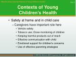 contexts of young children s health30