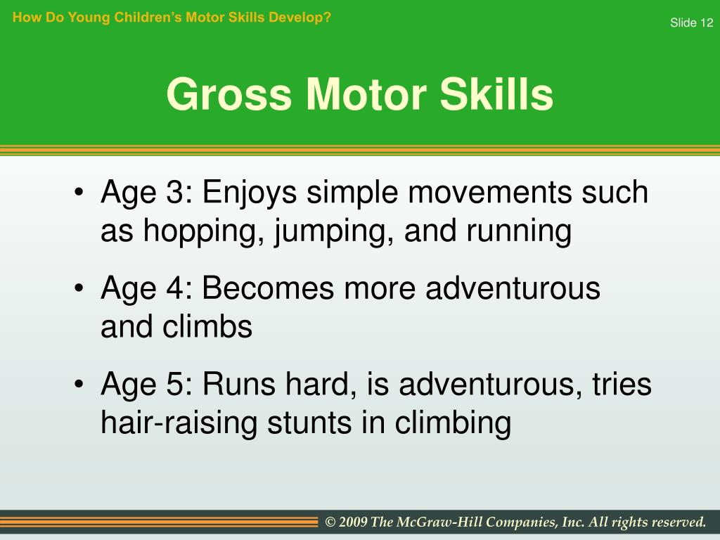 How Do Young Children's Motor Skills Develop?