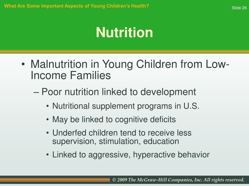 What Are Some Important Aspects of Young Children's Health?