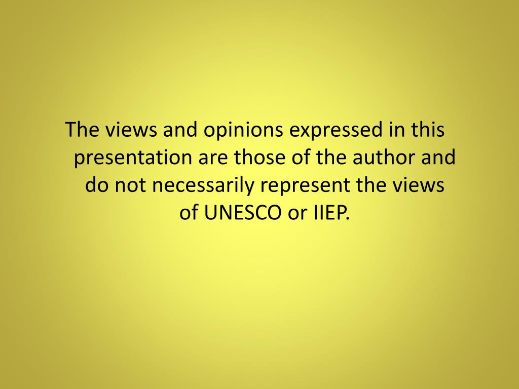 The views and opinions expressed in this presentation are those of the author and