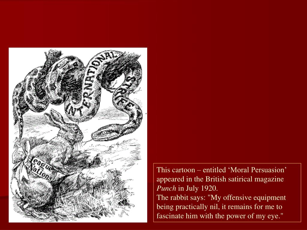 This cartoon – entitled 'Moral Persuasion' appeared in the British satirical magazine