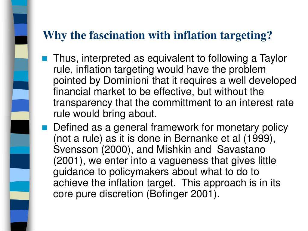 Why the fascination with inflation targeting?