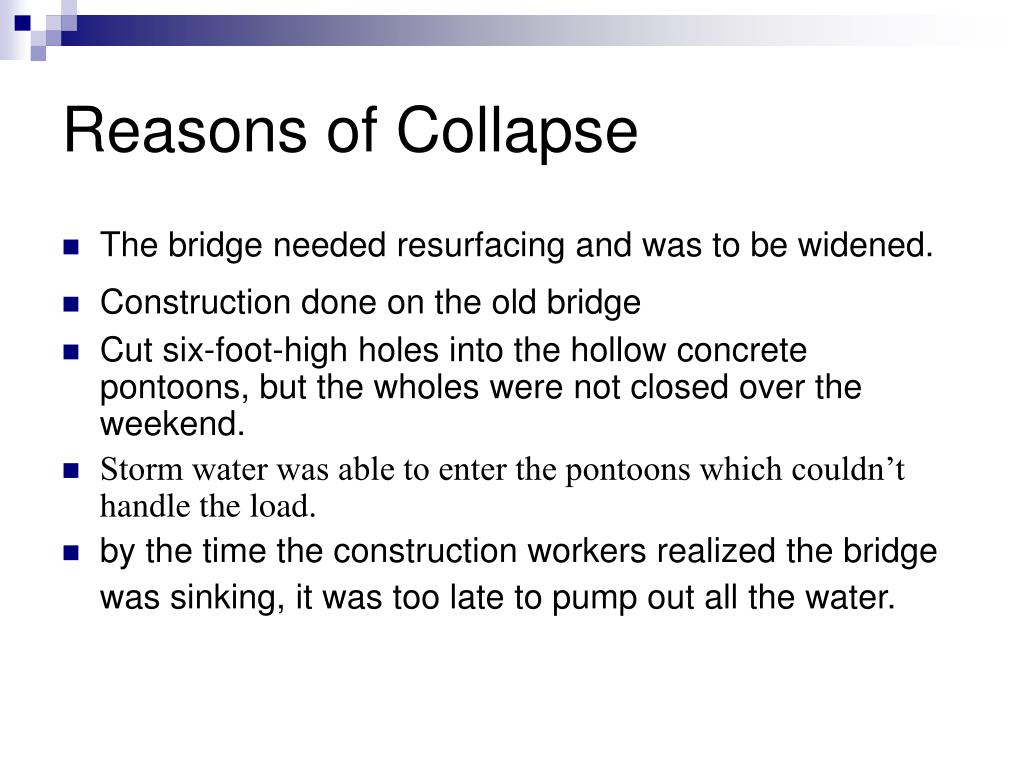 Reasons of Collapse