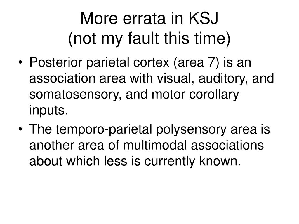 More errata in KSJ