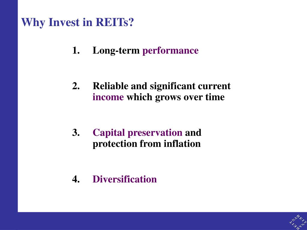 Why Invest in REITs?